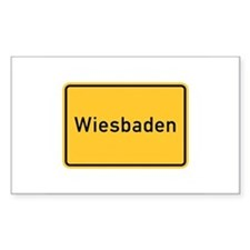 Wiesbaden Roadmarker, Germany Sticker (Rectangula