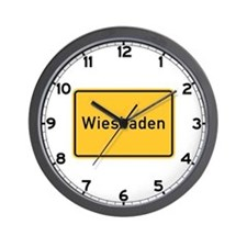 Wiesbaden Roadmarker, Germany Wall Clock