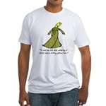 Old Man in a Dress Fitted T-Shirt
