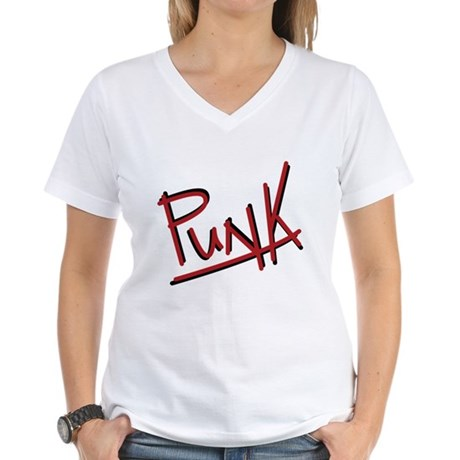 Punk Women's V-Neck T-Shirt