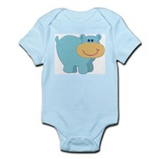 Light Blue Hippo Infant Creeper