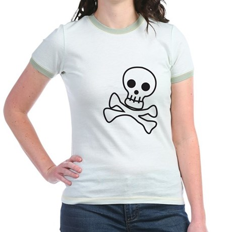 Cute Skull Jr. Ringer T-Shirt