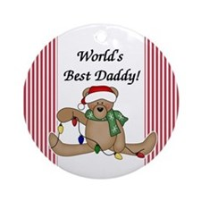 Bear World's Best Daddy Ornament (Round)