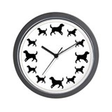 labrador walks Wall Clock