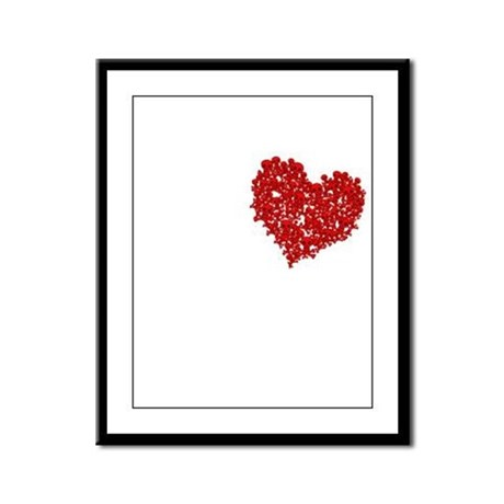 Heart of Skulls Framed Panel Print