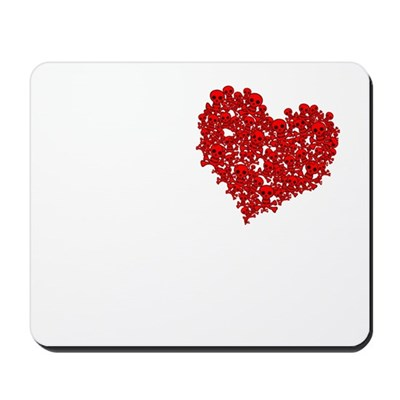 Heart of Skulls Mousepad