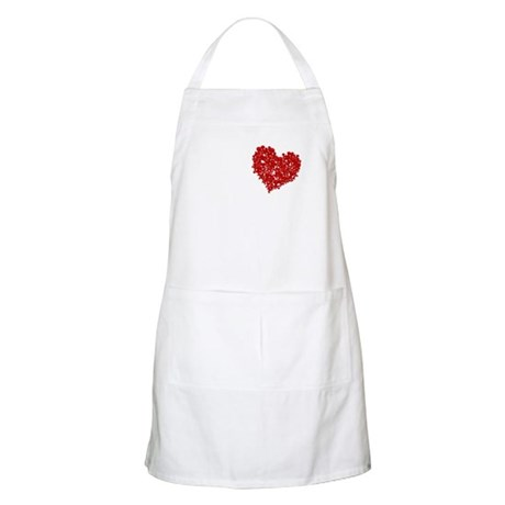 Heart of Skulls BBQ Apron