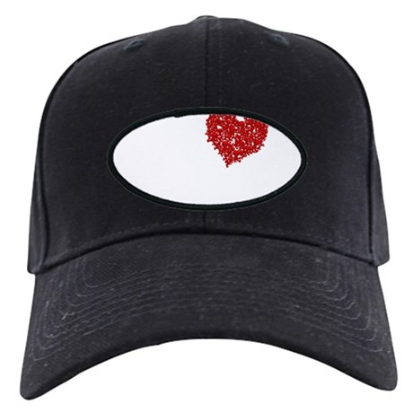 Heart of Skulls Black Cap