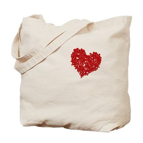 Heart of Skulls Tote Bag