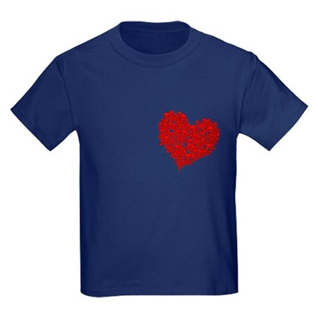 Heart of Skulls Kids Dark T-Shirt