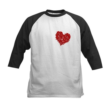 Heart of Skulls Kids Baseball Jersey