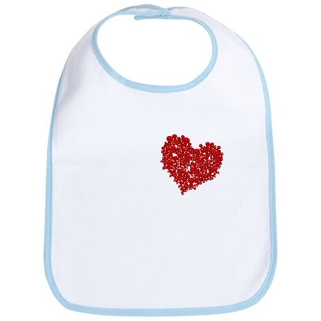 Heart of Skulls Bib