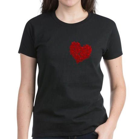 Heart of Skulls Women's Dark T-Shirt