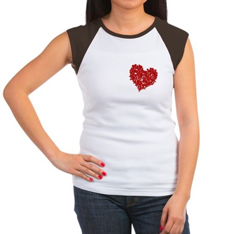 Heart of Skulls Women's Cap Sleeve T-Shirt