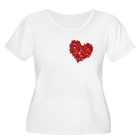 Heart of Skulls Women's Plus Size Scoop Neck T-Shi