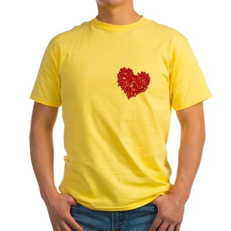 Heart of Skulls Yellow T-Shirt