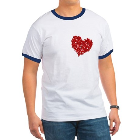 Heart of Skulls Ringer T