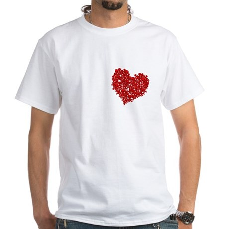 Heart of Skulls White T-Shirt