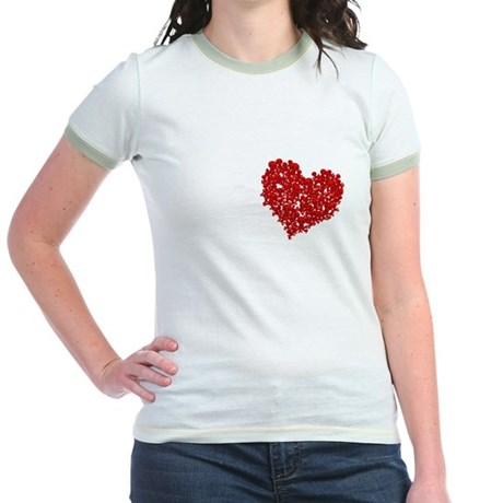 Heart of Skulls Jr. Ringer T-Shirt