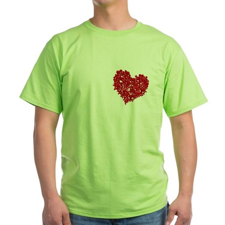 Heart of Skulls Green T-Shirt