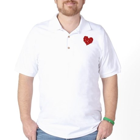 Heart of Skulls Golf Shirt