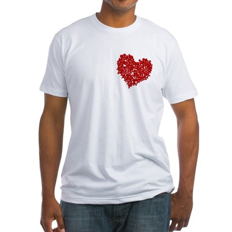 Heart of Skulls Fitted T-Shirt