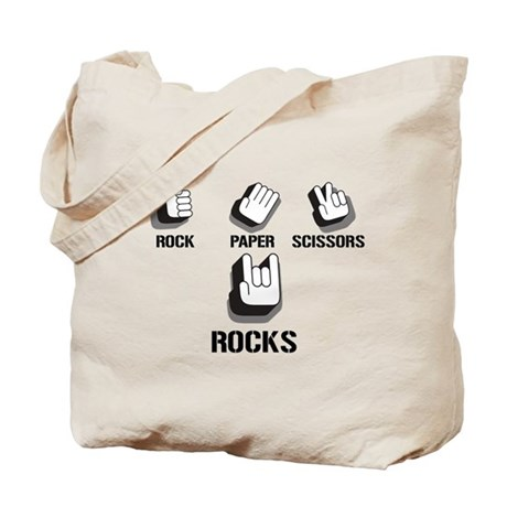 \m/ Rock On Tote Bag