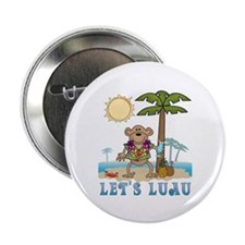 "Lets Luau Boy Monkey 2.25"" Button (100 pack)"