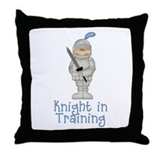 Knight in Training Throw Pillow