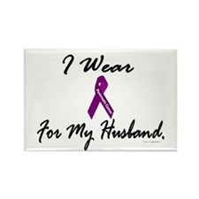 I Wear Purple 1 (Husband PC) Rectangle Magnet (100