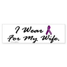 I Wear Purple 1 (Wife PC) Bumper Bumper Sticker