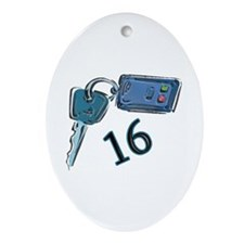 16th Birthday keys Oval Ornament