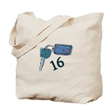 16th Birthday keys Tote Bag