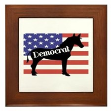 Democrat - Donkey Framed Tile