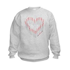 HEART ACUPUNCTURE NEEDLES Sweatshirt