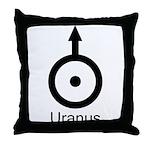 Uranus Symbol Throw Pillow