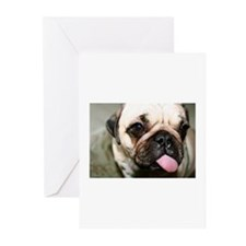 Unique Pug birthday Greeting Cards (Pk of 10)