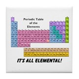 It's All Elemental Tile Coaster