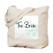 The Bride Green Flowers Tote Bag