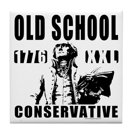 Old School Conservative Tile Coaster
