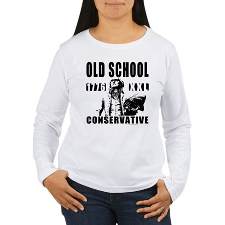 Old School Conservative Women's Long Sleeve T-Shir