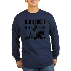 Old School Conservative Long Sleeve Dark T-Shirt