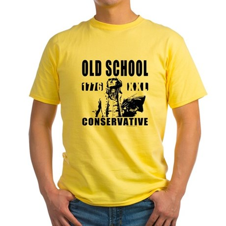 Old School Conservative Yellow T-Shirt