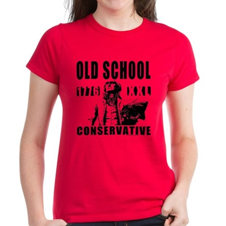 Old School Conservative Women's Dark T-Shirt
