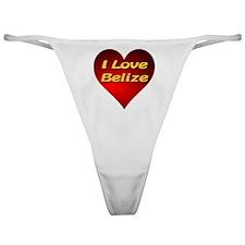 I Love Belize Classic Thong
