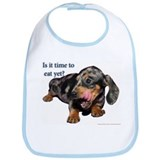 Dachshund Pup Time to Eat Bib
