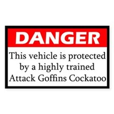 Danger Attack Goffins Cockatoo Decal