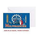 Milwaukee WI Flag Greeting Card