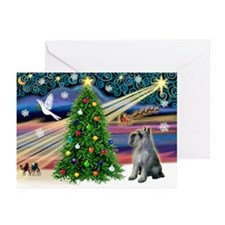 Xmas Magic - G Schnauzer Greeting Cards (Pk of 20)