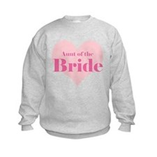 Aunt of the Bride pink heart Sweatshirt